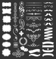 Decorative vintage elements and ribbon set vector