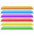 Colourful shelves vector