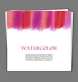 Card with hand painted watercolor texture vector
