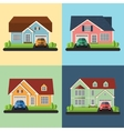 Set of house icons or symbols flat design vector