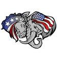 Political elephant and donkey cartoon vector