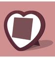 Heart photo frame vector