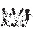 Doodle design of the soccer players vector