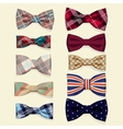 Set of bow-ties vector