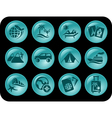 Vacations buttons vector