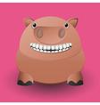 Cute baby pig vector