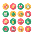 Fitness - flat icons vector