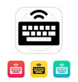 Wireless keyboard icon vector