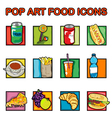 Classic food icons vector