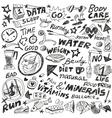 Health diet - doodles set vector