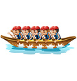 Boat racing vector