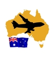 Fly me to the australia vector