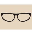 Secretary black flat eye glasses vector