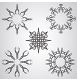 Celtic tattoo sun elements vector