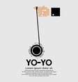 Yo-yo in hand vector