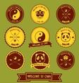 China label design vector