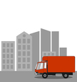 Truck in the city vector