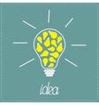 Big yellow bulb with small bulbs inside idea vector