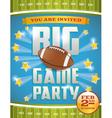 Football game invitation flyer vector