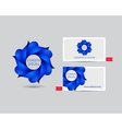 Business emblem icon of blue leaves vector