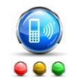 Glossy tech icon vector