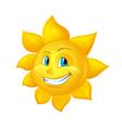 Smiling sun cartoon character vector