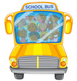 Children and school bus vector