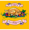 Thanksgiving turkey sketch vector