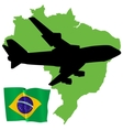 Fly me to the brazil vector