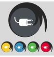 Electric plug sign icon power energy symbol set vector