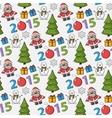 Seamless christmas patternsticker vector