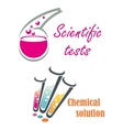 Laboratory glassware for tests vector