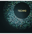 Blue technology round for your logo template can vector