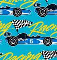 Open wheel racing car seamless pattern vector