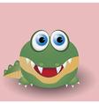 Cute baby crocodile vector