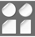 Blank stickers set vector