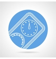Diving manometer round icon vector