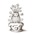 Hand drawn celebration cake vector
