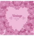 Heart form vintage flower frame vector