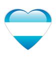 Argentina flag button vector