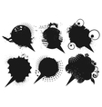 Grunge speech bubbles vector