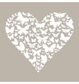 Butterfly heart vector