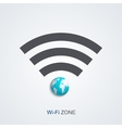 Modern wifi zone icon vector