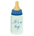 Baby bottle for boy vector