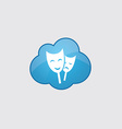 Blue cloud theater icon vector