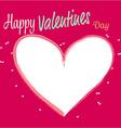 White heart valentines vector