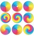 Raibow color wheels design elements vector