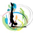 Man meditating and doing yoga vector
