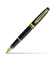 Golden fountain pen vector
