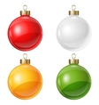 Christmas balls isolated on white for design vector